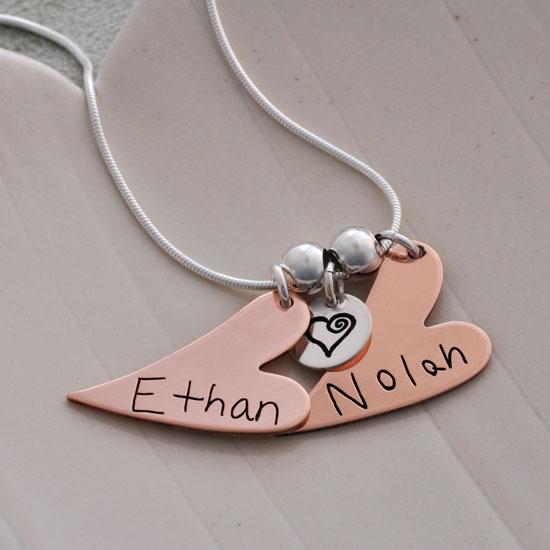 Handwriting Copper Hearts