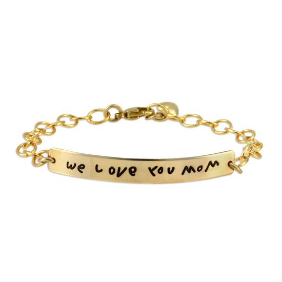 Gold Handwriting ID Bracelet