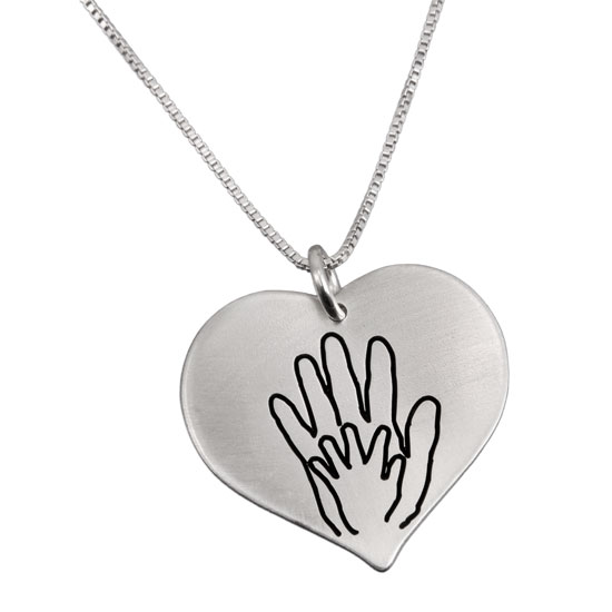 Custom Heart Handwriting Necklace