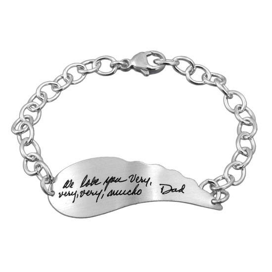 Handwriting Angel Wing Bracelet